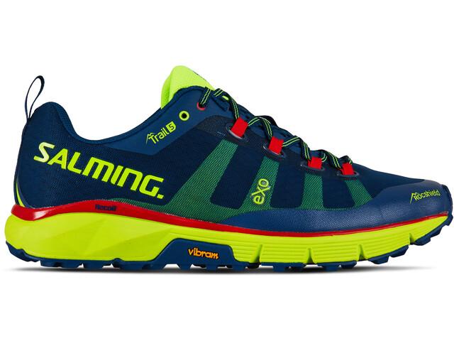 Salming Trail 5 Shoes Herren poseidon blue/safety yellow